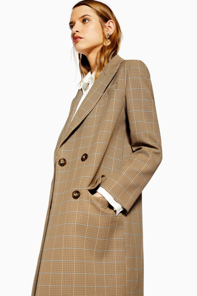 topshop-brown-check-coat