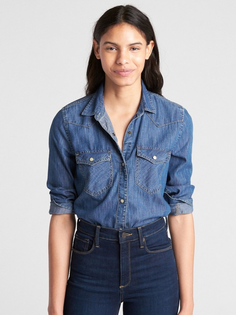 gap-denim-western-shirt