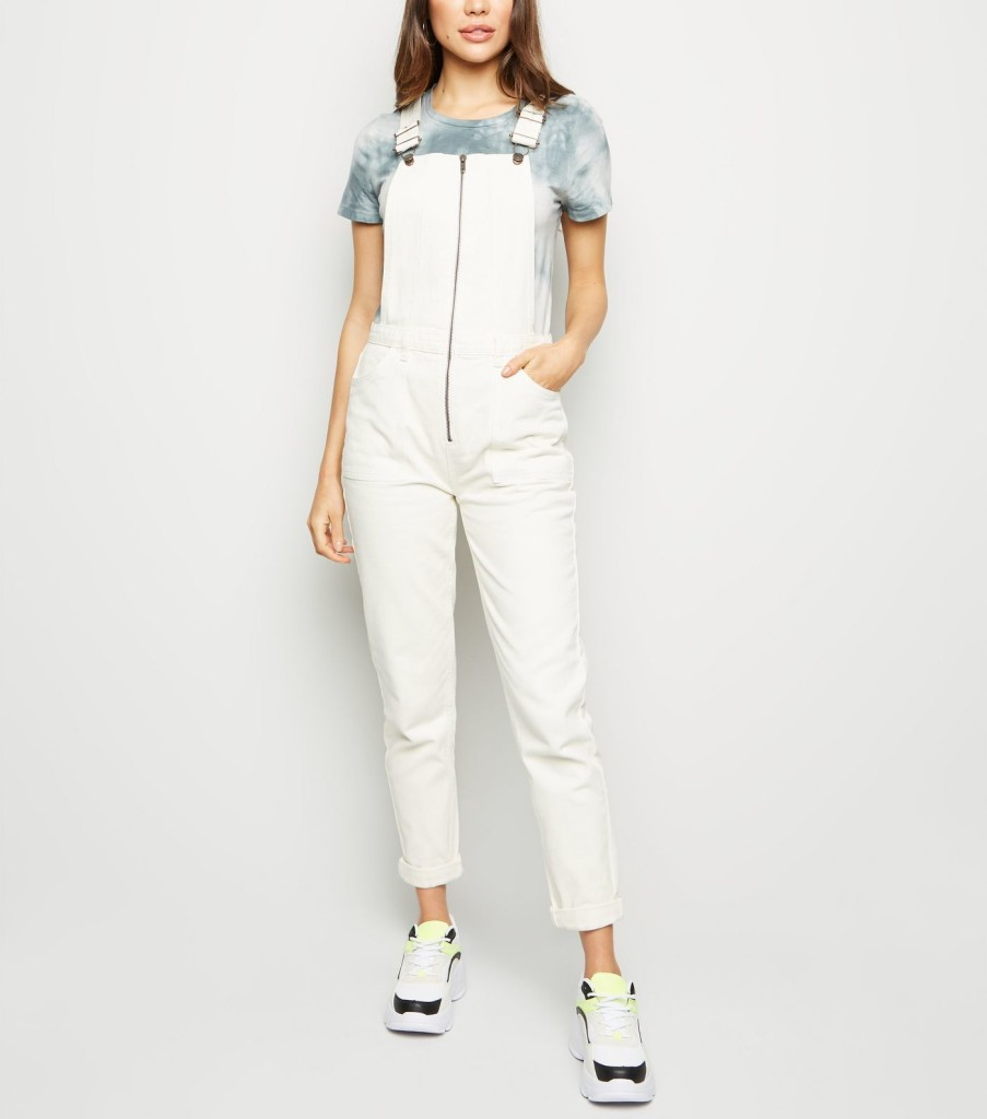 newlook-off-white-zip-front-denim-dungarees