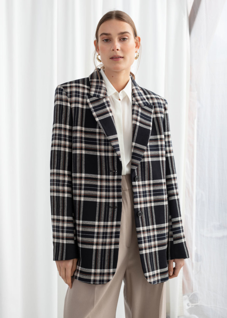 otherstories-cotton-blen-plaid-blazer