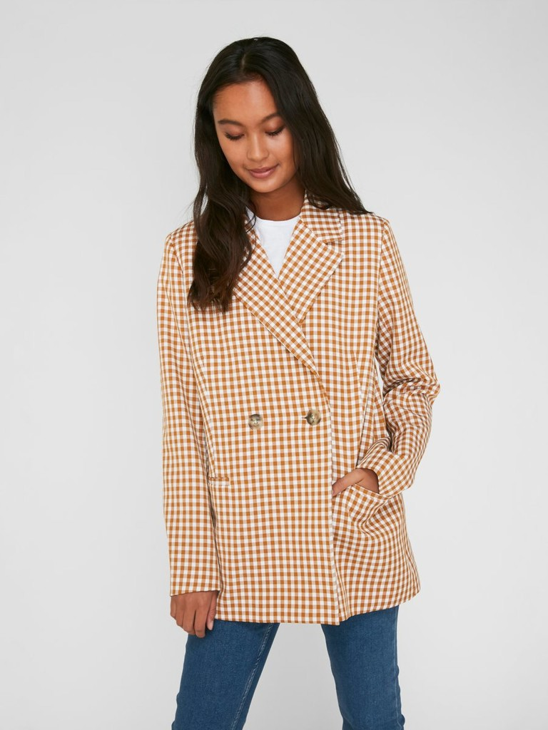 pieces-checked-blazer