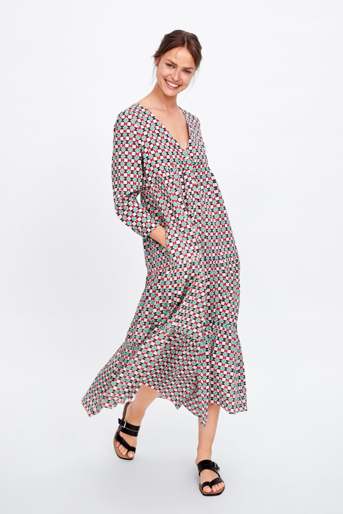 zara-geometric-print-dress