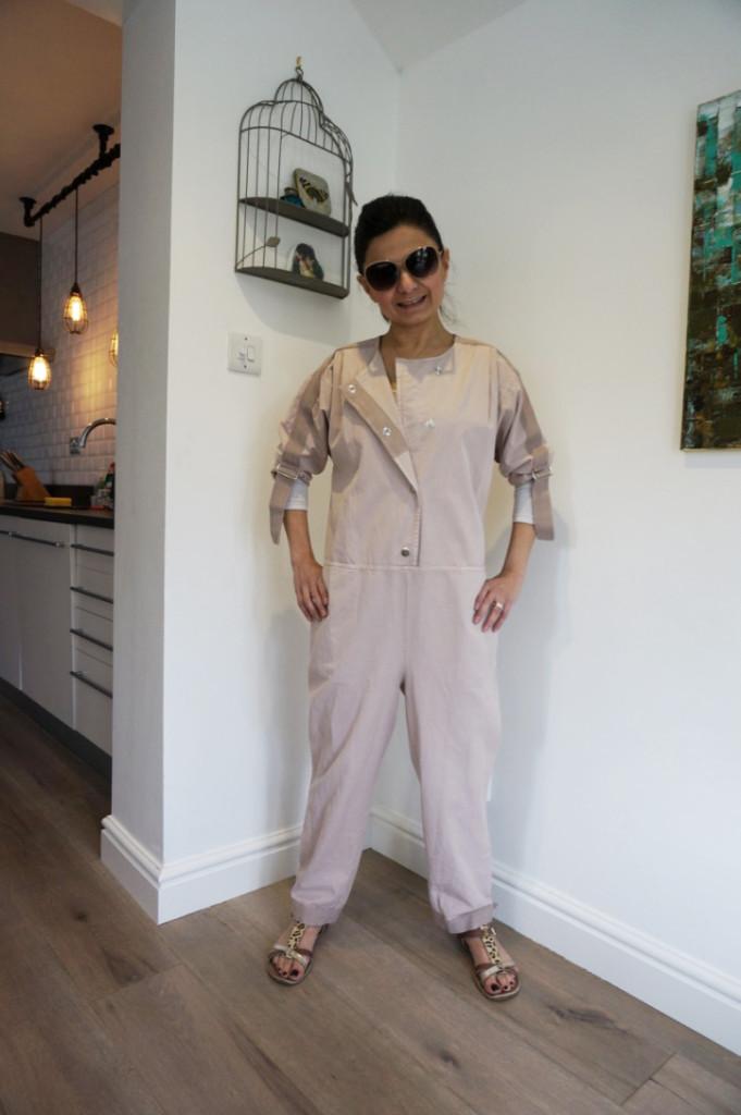 asos white herringbone jumpsuit full1