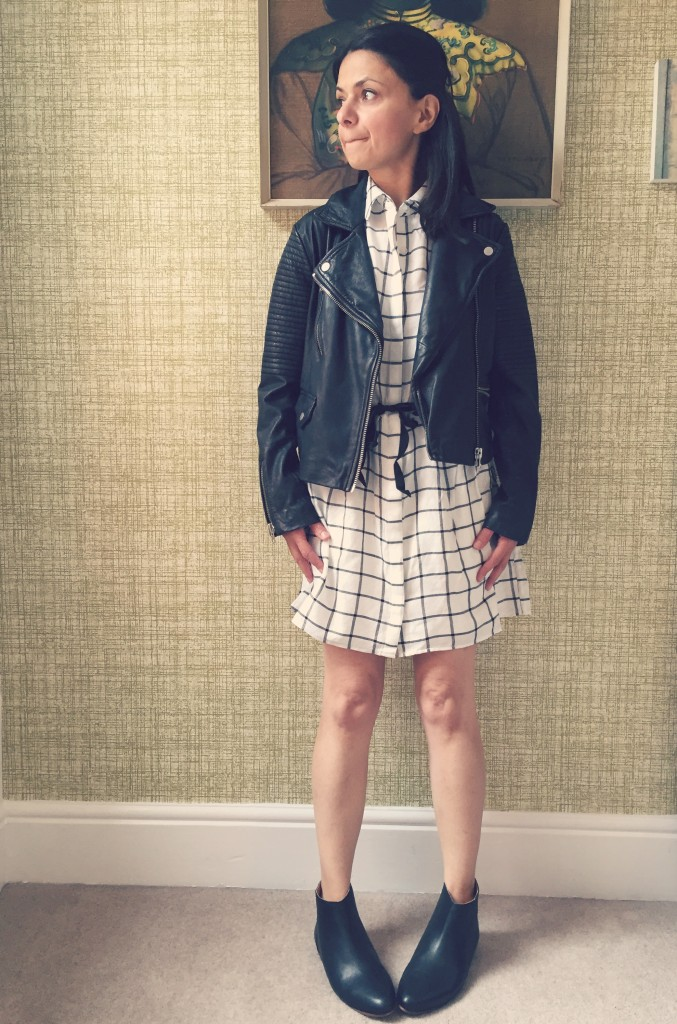 worn with Topshop Petites Biker Jacket and Apple Bee Ankle Boots