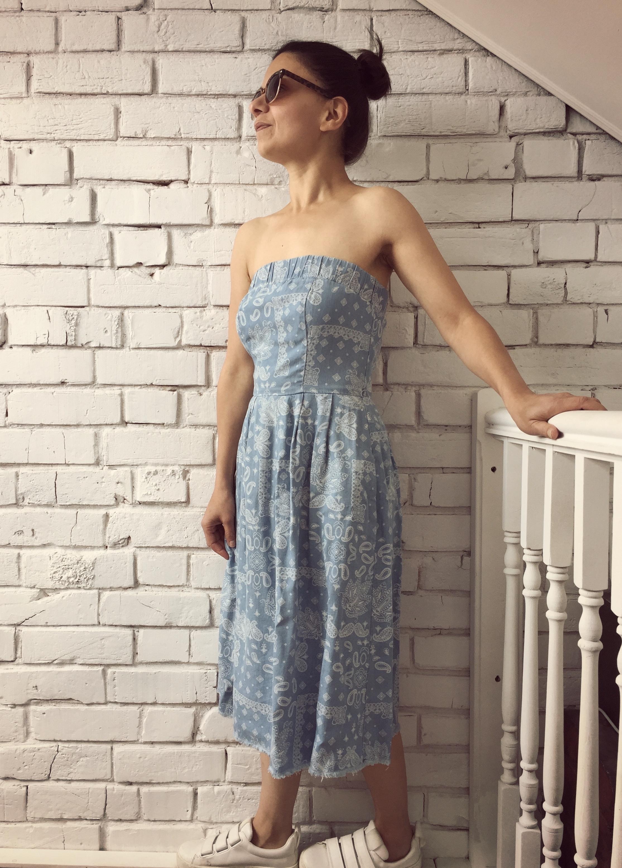Zara Basics Denim Dress