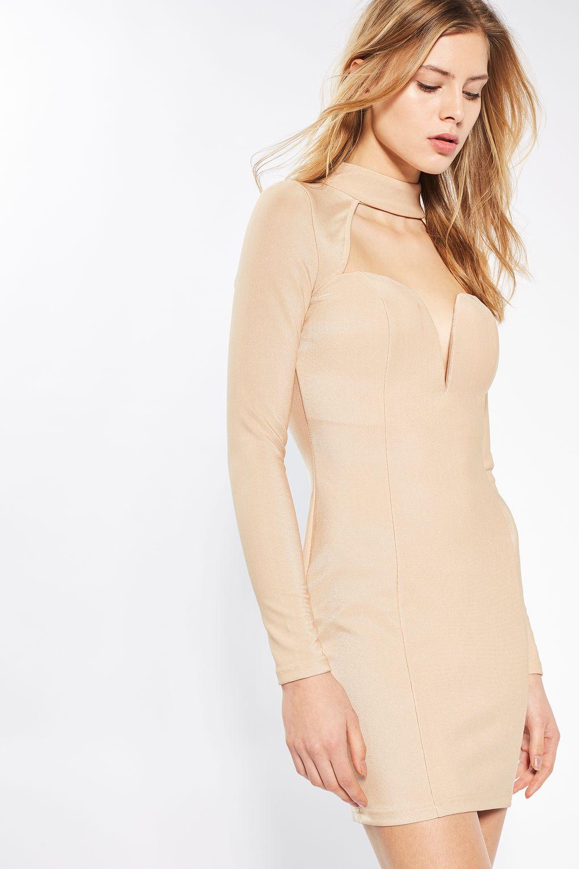 TS-cut-out-plunge-choker-midi-dress-model