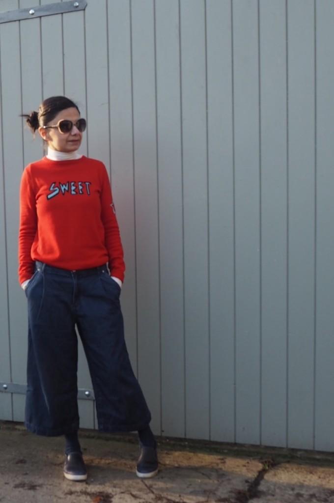 Zara TRF Pleat front denim culottes (last season)